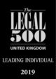 Legal 500 UK - Leading Individual 2019