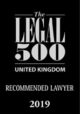 Legal 500 UK - Recommended Lawyer 2019