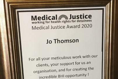 Medical Justice Award 2020