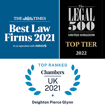 The Times - Best Law Firms 2021 / Legal 500 - Top Tier 2021 / Tope Ranked - Chambers UK 2021